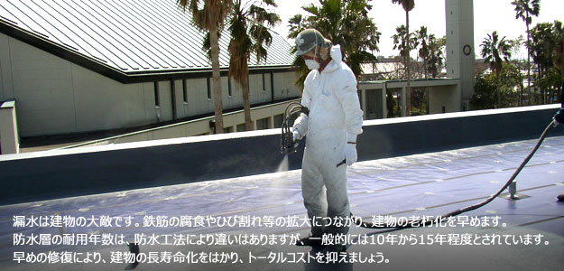 防水工事看板